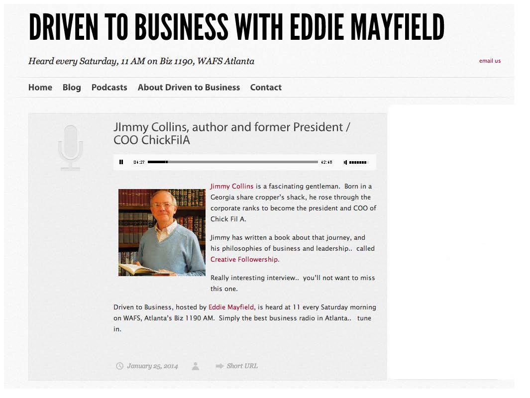"Interview on ""Driven To Business"" with Eddie Mayfield"
